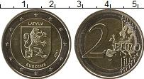 Изображение Монеты Латвия 2 евро 2017 Биметалл UNC-