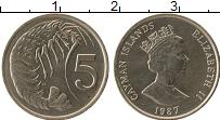 Продать Монеты Каймановы острова 5 центов 1987 Медно-никель