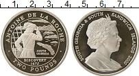 Изображение Монеты Южная Америка Сендвичевы острова 2 фунта 2000 Серебро Proof