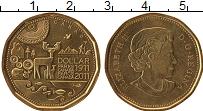 Изображение Монеты Канада 1 доллар 2011 Латунь UNC- 100 лет парку Канада
