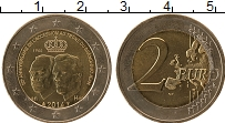 Изображение Монеты Люксембург 2 евро 2014 Биметалл UNC- 50 лет вступления на