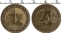Изображение Мелочь Люксембург 2 евро 2019 Биметалл UNC 100 лет со дня вступ