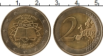Изображение Монеты Нидерланды 2 евро 2007 Биметалл UNC- 50 лет подписания Ри