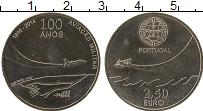 Изображение Монеты Португалия 2 1/2 евро 2014 Медно-никель UNC- 100 лет военной авиа