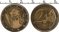 Изображение Мелочь Словения 2 евро 2014 Биметалл UNC 600 лет коронации Ба