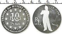 Изображение Монеты Франция 10 франков 1996 Серебро Proof- Флейтист