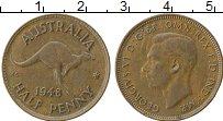 Изображение Монеты Австралия 1/2 пенни 1948 Бронза XF Георг VI
