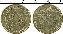 Изображение Монеты Австралия 1 доллар 2007 Латунь XF Форум стран APEC