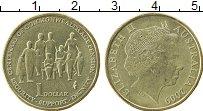 Изображение Монеты Австралия 1 доллар 2009 Латунь UNC- 100 лет пенсионному