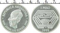 Продать Монеты Аргентина 1 песо 1999 Серебро
