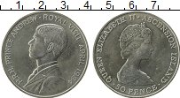 Изображение Монеты Остров Вознесения 50 пенсов 1984 Медно-никель UNC- Королевский визит пр
