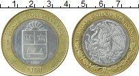 Изображение Монеты Мексика 100 песо 2004 Серебро UNC- Центральный  круг -