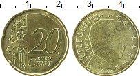 Продать Монеты Люксембург 20 евроцентов 2007 Латунь