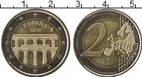 Изображение Монеты Испания 2 евро 2016 Биметалл UNC- Старинный город Сего