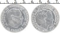 Изображение Монеты Дания 10 крон 1972 Серебро UNC- Смерть короля Фредер