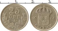 Изображение Монеты Швеция 25 эре 1938 Серебро VF