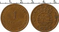 Изображение Монеты Ангола 1 эскудо 1956 Бронза XF