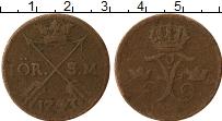 Изображение Монеты Швеция 1 эре 1743 Медь VF
