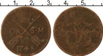 Изображение Монеты Швеция 1 эре 1748 Медь VF