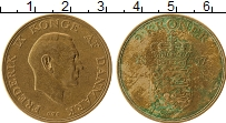 Изображение Монеты Дания 2 кроны 1957 Латунь VF Фредерик IX