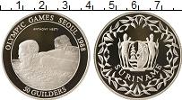 Изображение Монеты Суринам 50 гульденов 1988 Серебро Proof Олимпийские игры, пл