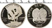 Изображение Монеты Папуа-Новая Гвинея 5 кин 1997 Серебро Proof Олимпийские игры, па