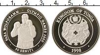 Изображение Монеты Тонга 50 сенити 1998 Серебро Proof Олимпийские игры, бо