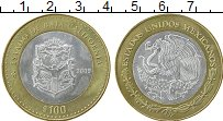 Изображение Монеты Мексика 100 песо 2005 Серебро UNC- Центральный  круг -