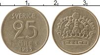 Изображение Монеты Швеция 25 эре 1953 Серебро XF