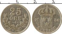 Изображение Монеты Швеция 25 эре 1930 Серебро XF-