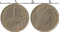 Изображение Монеты Колумбия 1 сентаво 1935 Медно-никель VF