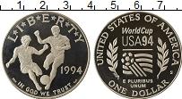 Изображение Монеты США 1 доллар 1994 Серебро Proof- Чемпионат мира по фу