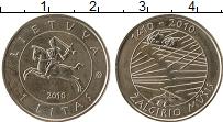 Изображение Монеты Литва 1 лит 2010 Медно-никель UNC- 600 - летие  Грюнвал