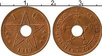 Изображение Монеты Бельгийское Конго 1 сантим 1919 Бронза UNC-