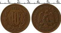Изображение Монеты Мексика 10 сентаво 1920 Бронза XF