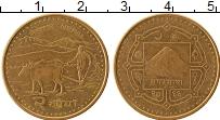 Изображение Монеты Непал 2 рупии 2009 Латунь UNC-
