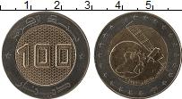 Изображение Мелочь Алжир 100 динар 2019 Биметалл UNC- Космический спутник