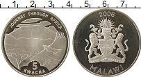 Изображение Монеты Малави 5 квач 2006 Серебро Proof Африка