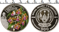 Изображение Монеты Руанда 500 франков 2011 Серебро Proof