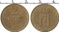 Изображение Монеты Норвегия 2 эре 1937 Бронза XF