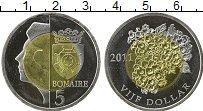Продать Монеты Бонайре 5 долларов 2011 Биметалл