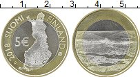 Изображение Монеты Финляндия 5 евро 2018 Биметалл UNC Ландшафт
