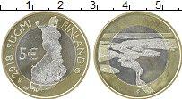 Изображение Монеты Финляндия 5 евро 2018 Биметалл UNC Озёра