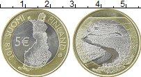 Изображение Монеты Финляндия 5 евро 2018 Биметалл UNC