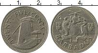Изображение Монеты Барбадос 25 центов 1973 Медно-никель VF