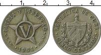 Изображение Монеты Куба 5 сентаво 1961 Медно-никель XF