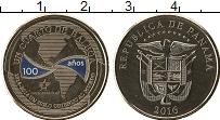 Изображение Мелочь Панама 1/4 бальбоа 2016 Медно-никель UNC 100 лет Панамскому к