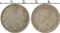 Изображение Монеты Канада 25 центов 1936 Серебро VF