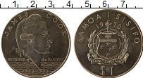 Изображение Монеты Самоа 1 доллар 1970 Медно-никель UNC- 200 лет путешествий