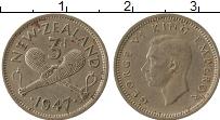 Изображение Монеты Новая Зеландия 3 пенса 1947 Медно-никель XF